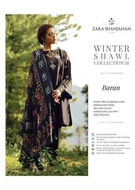 ZARA SHAHJAHAN LUXURY SHAWL COLLECTION 2018 BARAN 03