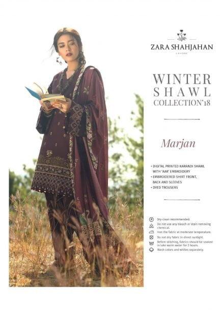 ZARA SHAHJAHAN LUXURY SHAWL COLLECTION 2018 MARJAN 04