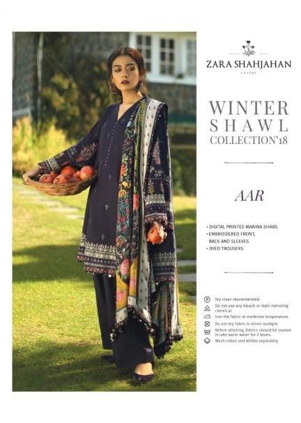 ZARA SHAHJAHAN LUXURY SHAWL COLLECTION 2018 ARR 05