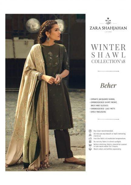 ZARA SHAHJAHAN LUXURY SHAWL COLLECTION 2018 BEHER 07