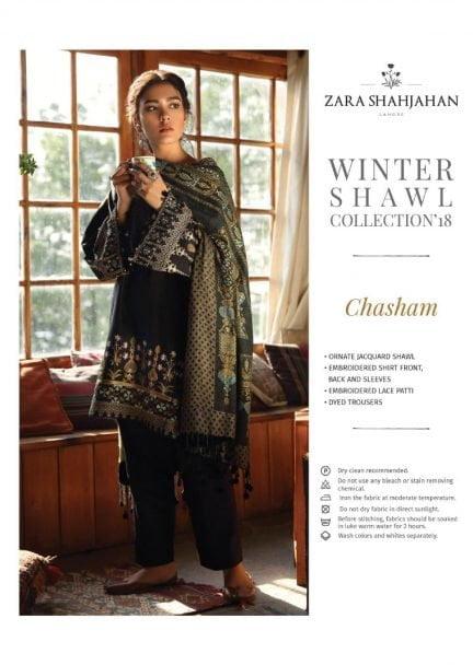 ZARA SHAHJAHAN LUXURY SHAWL COLLECTION 2018 CHASHAM 08