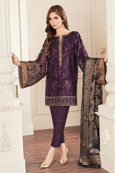 BAROQUE CHANTELLE EMBROIDERED CHIFFON COLLECTION 2019 10-AMETHYST