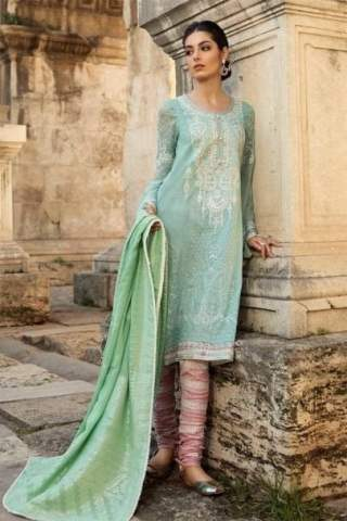 MARIA B LUXURY LAWN COLLECTION 2019 D-1909-B