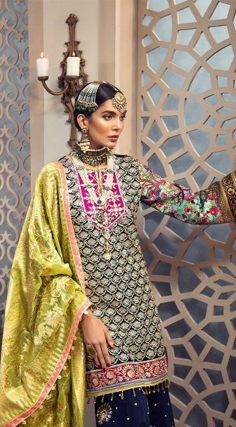 Anaya Isfahan Embroidered Chiffon Unstitched 3 Piece Suit 2019 05 LAILA