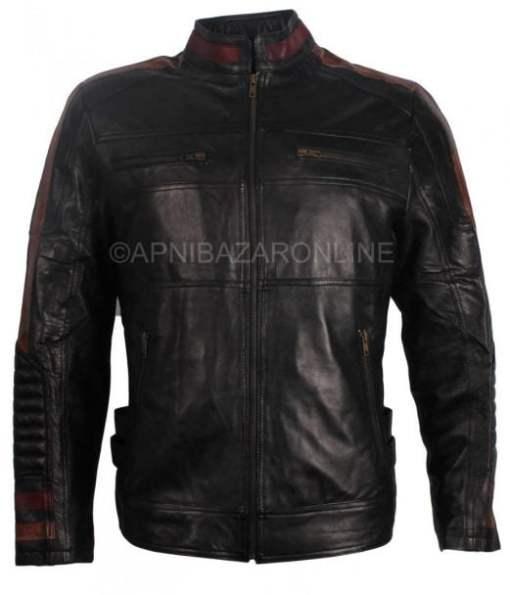 Men's Casual Black Designer Genuine Leather Jacket DMLJ-23