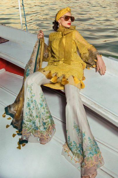 Maria B Luxury Lawn Unstitched 3 Piece Suit MBL20-2004B Lawn Collection
