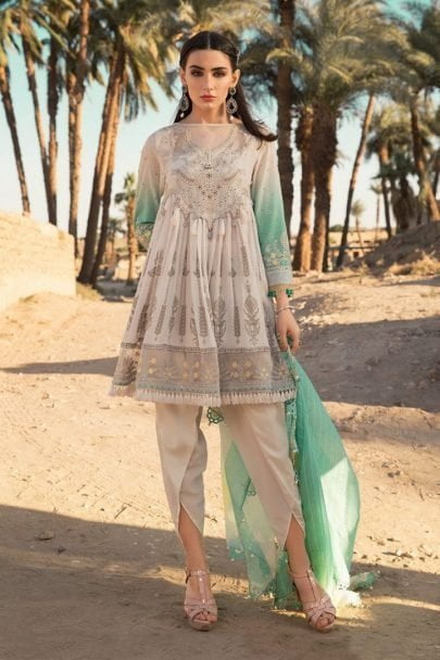 Maria B Luxury Lawn Unstitched 3 Piece Suit MBL20-2012A Lawn Collection