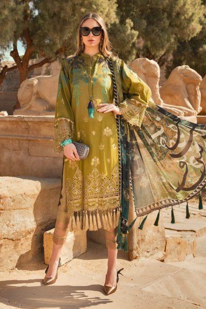 Maria B Luxury Lawn Unstitched 3 Piece Suit MBL20-2011B Lawn Collection