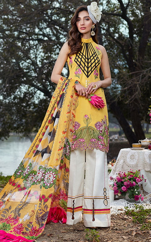Asifa Nabeel Luxury Lawn Unstitched 3 Piece Suit ANL20-22-B – Summer Collection