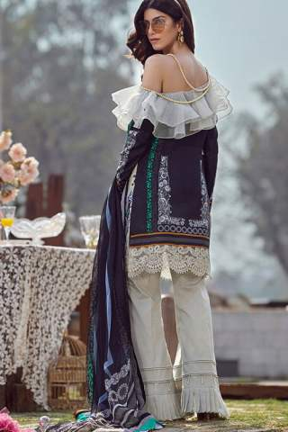 Asifa Nabeel Luxury Lawn Unstitched 3 Piece Suit ANL20-45-M – Summer Collection