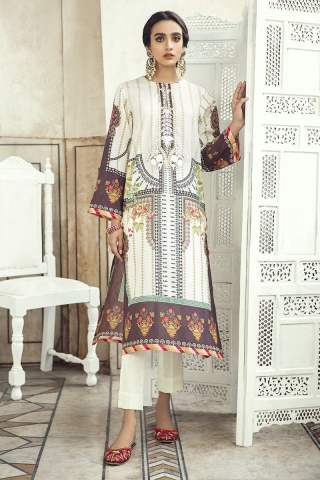 Sheesh Mahal by Cross Stitch Embroidered Lawn Unstitched 2 Piece Suit CSL20 23 Aztec Shadow – Lawn Collection