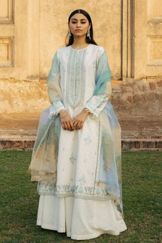 Zara Shahjahan Luxury Embroidered Lawn Unstitched 3 Piece Suit ZSL20 MEHNAZ-A – Summer Collection