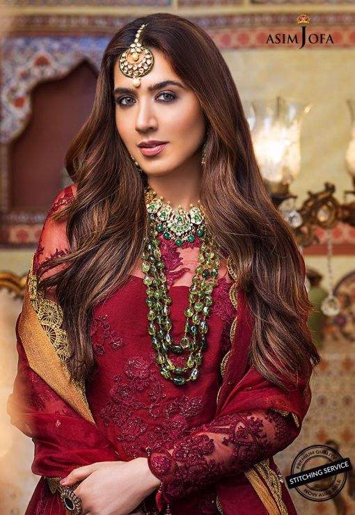 Asim Jofa Embroidered Organza Unstitched 3 Piece Suit AJFC20 03 – Luxury Collection