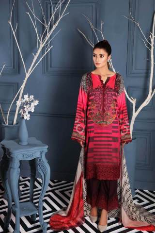 Charizma Embroidered Linen Unstitched 3 Piece Suit CCWL20 11 - Winter Collection