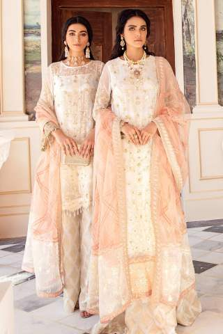 Falaknuma by Iznik Embroidered Chiffon Unstitched 3 Piece Suit IZFC20 10 SEFFAF – Wedding Collection