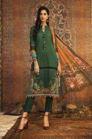 Mprints by Maria B Unstitched 3 Piece Khaddar Suit MBMP20 06A – Winter Collection