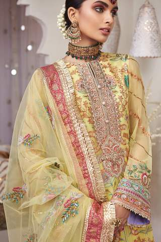 Nargis by Anaya Embroidered Chiffon Unstitched 3 Piece Suit AKCNC20 06 Shamsa – Wedding Collection