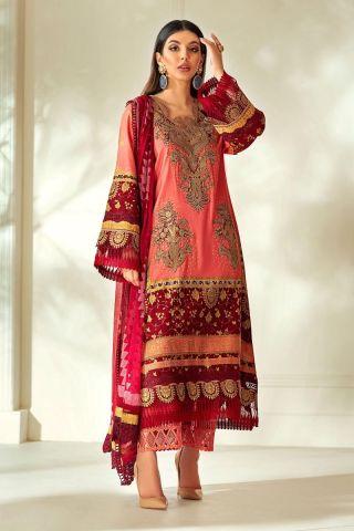 Muzlin by Sana Safinaz Cotton Satin Unstitched 3 Piece Suit MWSS20 02A - Winter Collection