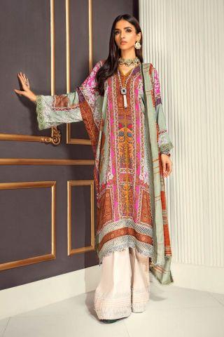 Muzlin by Sana Safinaz Linen Unstitched 3 Piece Suit MWSS20 03A - Winter Collection