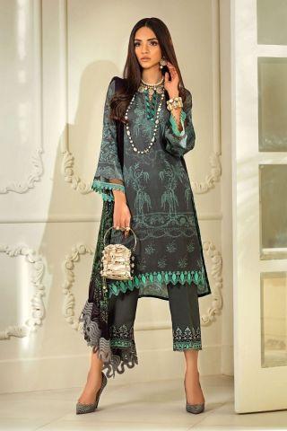 Muzlin by Sana Safinaz Linen Unstitched 3 Piece Suit MWSS20 05B - Winter Collection