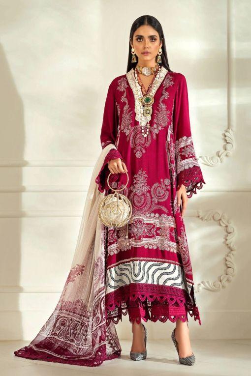 Muzlin by Sana Safinaz Linen Unstitched 2 Piece Suit MWSS20 09B – Winter Collection