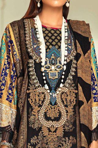 Muzlin by Sana Safinaz Cotton Satin Unstitched 3 Piece Suit MWSS20 13A - Winter Collection