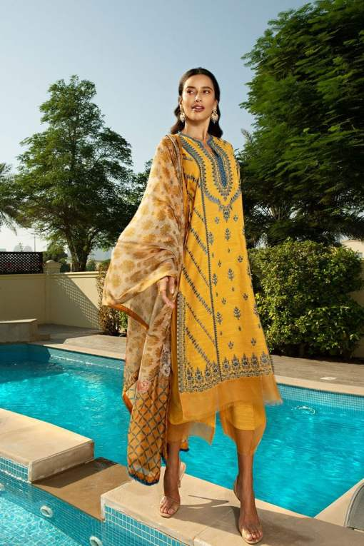 Sobia Nazir Khaddar Unstitched 3 Piece Suit SNWC20 03A – Winter Collection