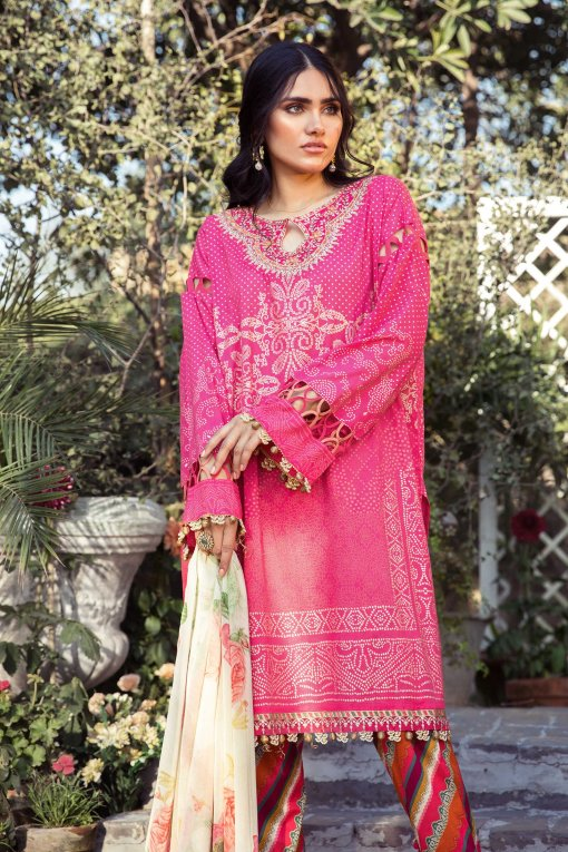 Mprints by Maria B Printed Lawn Unstitched 3 Piece Suit 04 A – Summer Collection