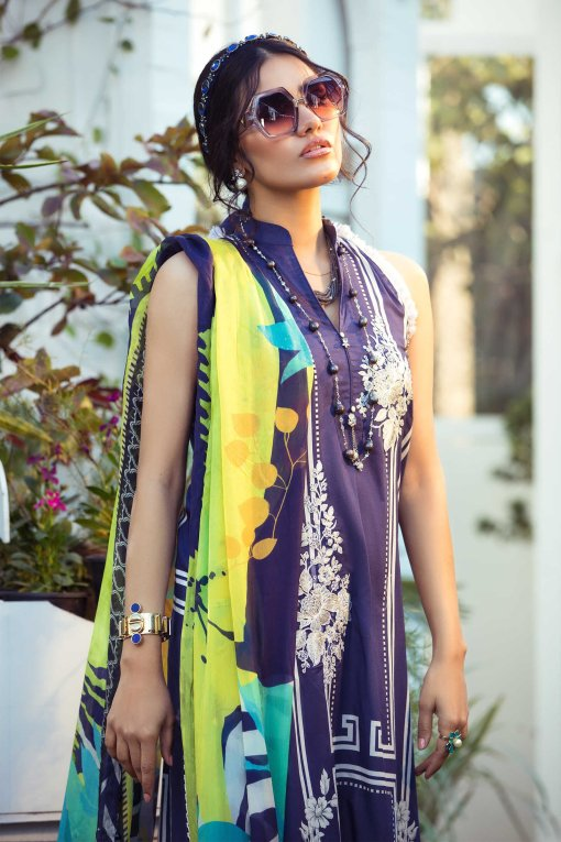 Mprints by Maria B Printed Lawn Unstitched 3 Piece Suit 06 A – Summer Collection