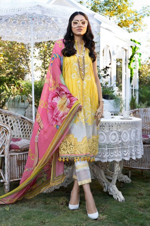 Mprints by Maria B Printed Lawn Unstitched 3 Piece Suit 09 A – Summer Collection