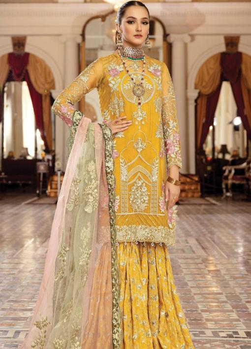 Regence by Imrozia Embroidered Organza Unstitched 3 Piece Suit I-125 RAYONNER – Wedding Collection