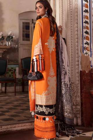 Sana Safinaz Embroidered Slub Lawn Unstitched 3 Piece Suit 10-B – Summer Collection