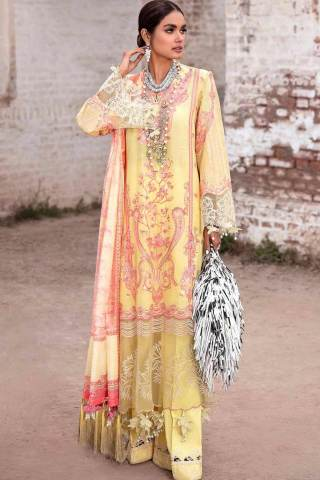 Sana Safinaz Embroidered Slub Lawn Unstitched 3 Piece Suit 16-B – Summer Collection