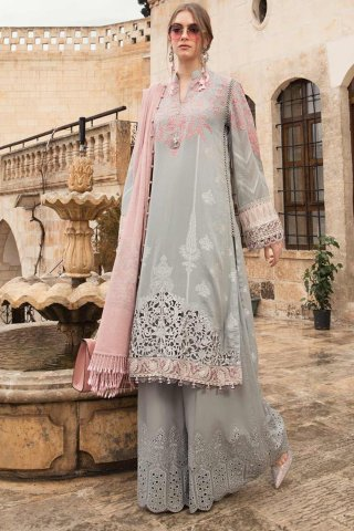 Maria B Embroidered Jacquard Unstitched 3 Piece Suit 03 B – Summer Collection