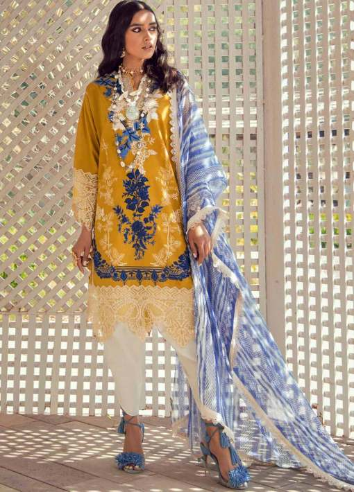 Muzlin by Sana Safinaz Embroidered Lawn Unstitched 2 Piece Suit 09A – Summer Collection