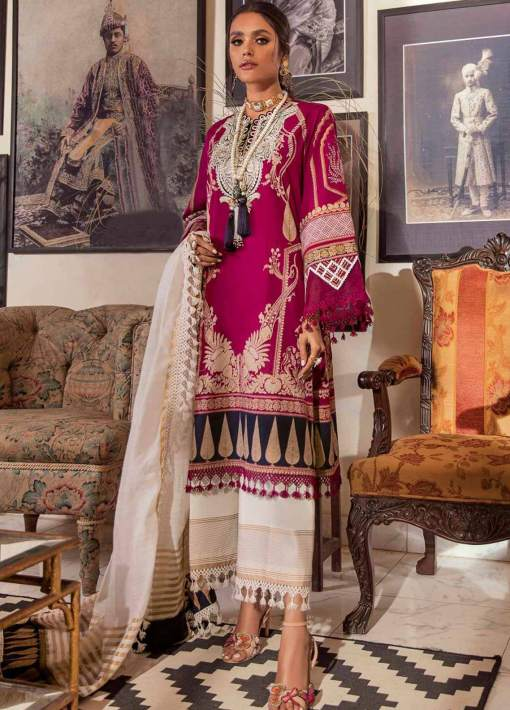 Muzlin by Sana Safinaz Embroidered Lawn Unstitched 3 Piece Suit 13B – Summer Collection