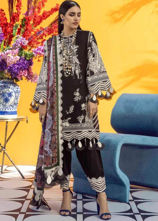 Muzlin by Sana Safinaz Embroidered Lawn Unstitched 3 Piece Suit 15A – Summer Collection