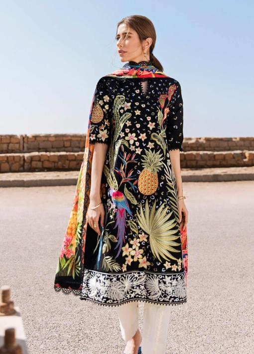 Zaha by Khadijah Shah Embroidered Lawn Unstitched 3 Piece Suit 02-A – Summer Collection