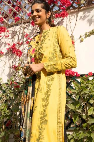 Zaha by Khadijah Shah Embroidered Lawn Unstitched 3 Piece Suit 12-B – Summer Collection