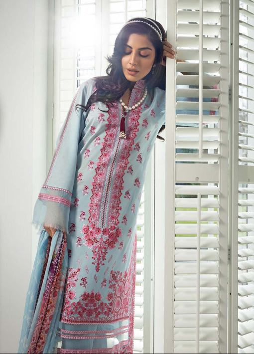 Sobia Nazir Embroidered Luxury Lawn Unstitched 3 Piece Suit 05B – Summer Collection