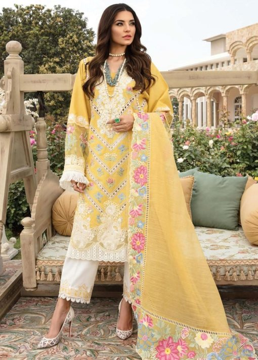 Crimson by Saira Shakira Embroidered Lawn Unstitched 3 Piece Suit 6B AMBER – Luxury Collection