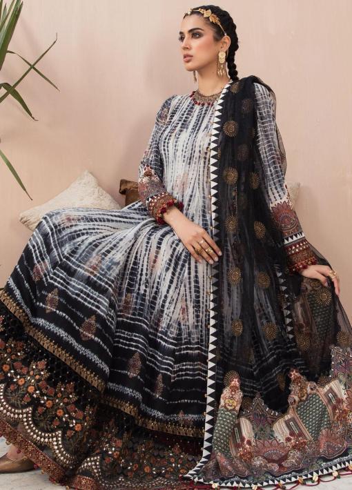 Maria B Embroidered Eid Jacquard Unstitched 3 Piece Suit D-04 – Festive Collection