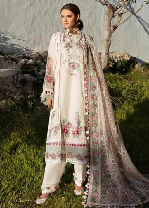 Selene By Republic WomensWear Embroidered Luxury Lawn Unstitched 3 Piece Suit 10B Aydin – Summer Collection
