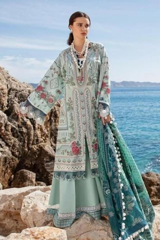 Selene By Republic WomensWear Embroidered Luxury Lawn Unstitched 3 Piece Suit 02A Fatin – Summer Collection