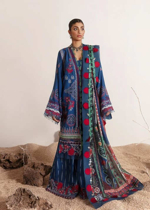 Selene By Republic WomensWear Embroidered Luxury Lawn Unstitched 3 Piece Suit 12B Mayra – Summer Collection