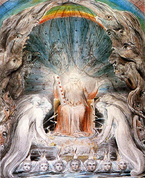 The Four and Twenty Elders Casting their Crowns before the Divine Throne by William Blake // Larry Hunt Bible Commentary