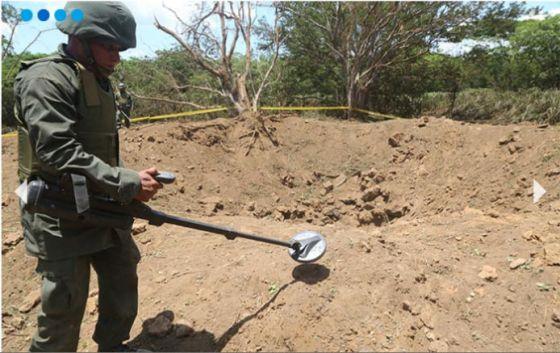 Soldado procura restos de meteorito na Nicarágua