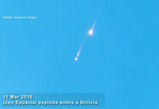 Reentrada do satelite JB-3A, em marco de 2016