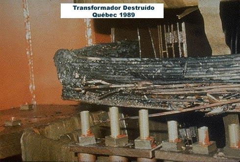 transformador destruido por tempestade geomegnetica