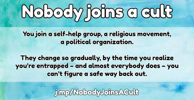 Nobody Joins A Cult | Apologetics Index